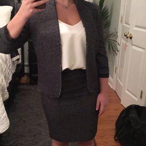 Ann Taylor Grey Tweed Blazer- NWT